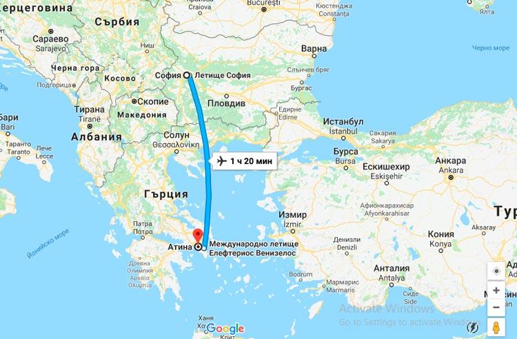 самолетни билети софия атина варна