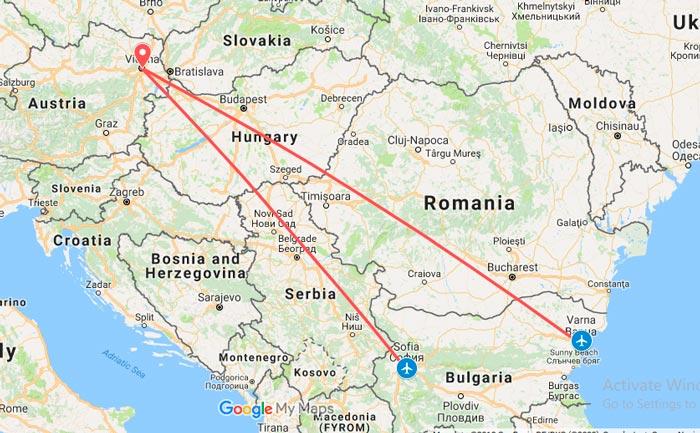 самолетни билети от българия до австрия