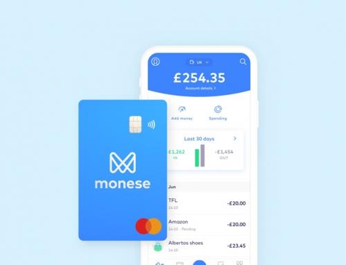 Безплатна карта Monese + 15 Евро бонус