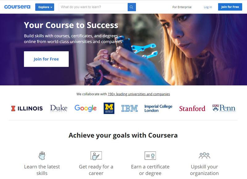 coursera онлайн курсове и уроци